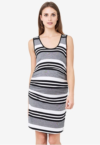 7d8754f899 Buy Ripe Maternity Maternity Stripe Nursing Dress Online