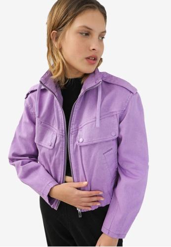 PIMKIE purple High Collar Jacket 15957AA6C565F2GS_1