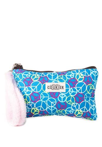 Courier blue Pouch with Fur strap CO826AC60QPBPH_1