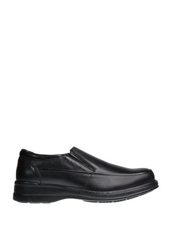 Hush Puppies black George Preston Dress Casual Shoes HU326SH0J3X6PH_1