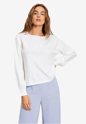 Tussah white Corina Knit Jumper 53F1CAA4404A47GS_1