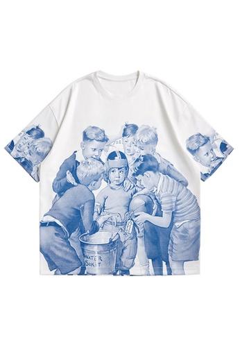 Twenty Eight Shoes Figures Printed Short T-shirt 5396S21 78722AA61E34DEGS_1