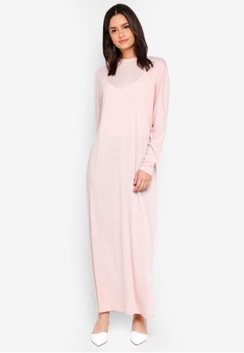 Zalia beige High Neck Column Dress C225CAA3BAA006GS_1