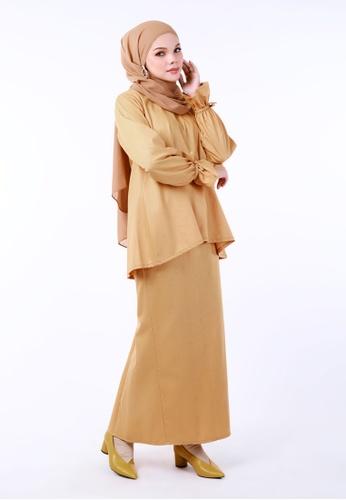 Inhanna yellow INDRA Kurung Kedah Butter Yellow 73CEBAAE58BBC6GS_1