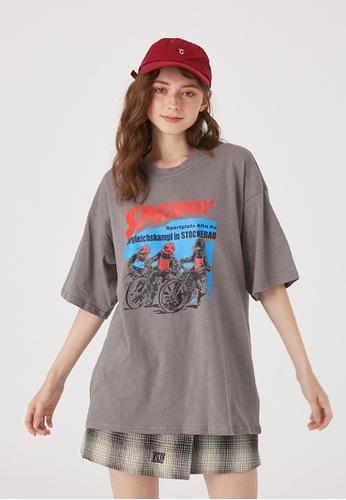 Twenty Eight Shoes Oversize Printed Short T-Shirt HH0154 E3602AA6F4763BGS_1