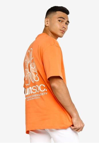 H&M orange Heavy Cotton Jersey T-Shirt 80A19AA83169EEGS_1