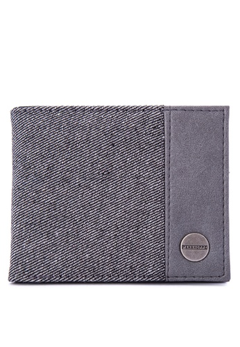 Penshoppe grey Denim Bi-Fold Wallet 84EFAACCBCB2F4GS_1