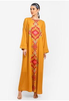 c4e2011ff2d5 Tom Abang Saufi for ZALORA yellow Grace Kaftan 8CA6EAA89DA18DGS_1