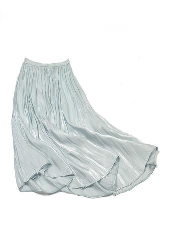 Twenty Eight Shoes green VANSA Pearly Yarn Pleated Skirt VCW-Sk18588 61C77AA95D6B9FGS_1