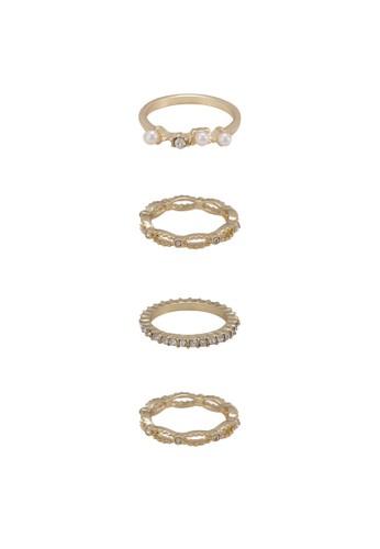 Madie esprit服飾四入戒指組, 飾品配件, 戒指