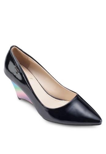Patent Poinesprit服飾ted Toe Wedges, 女鞋, 鞋