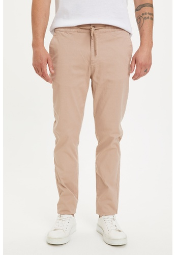DeFacto brown Slim Jogger Trousers 56429AA8D19F4DGS_1