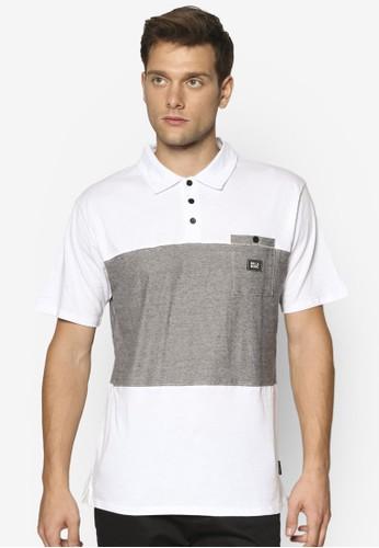 Trident 拼色esprit台灣口袋POLO 衫, 服飾, 服飾