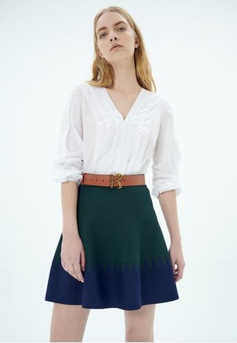 iROO multi Mini Contrast Skirt 26D5AAADF95023GS_1