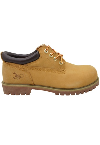 midzone yellow SCORPION Genuine Leather Safety Shoes ED84ESHFA9CC87GS_1