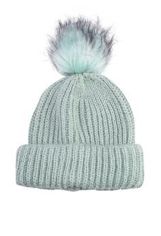 86056a40a0f TOPSHOP green Knit Beanie With Fur Pom 9D0F9AC5BD546BGS 1
