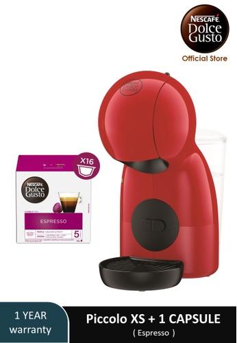 NESCAFE Dolce Gusto red PICCOLO XS Coffee Machine with 1 box of NESCAFE Dolce Gusto Espresso capsules 8B94DES88E5A4CGS_1