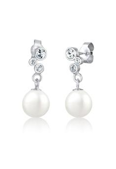 f32f7c51c Elli Germany silver Elli Germany Pearl Eardrops Swarovski® Crystals  Earrings EL474AC0S1ZQMY_1