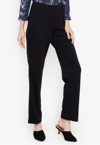 MARKS & SPENCER black Ponte Straight Leg Trousers 6025AAAD1531D0GS_1