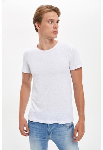 DeFacto white Man Knitted T-Shirt 6B806AA6C3346FGS_1
