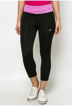 Legging Capri Pants With Print Waistband