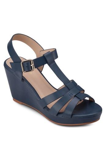多帶楔型跟涼鞋, 女鞋, zalora 台灣楔形涼鞋