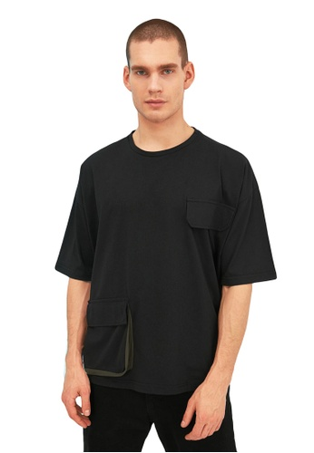 Trendyol black Oversized T-Shirt 9AC6BAAF15F0B8GS_1