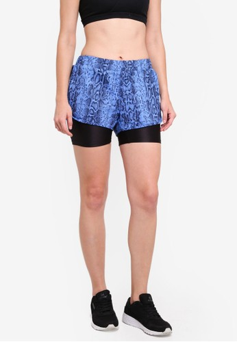 UniqTee blue Gym 2-In-1 Sport Shorts 84837AAEF7286AGS_1
