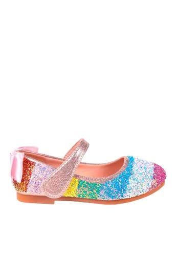 Twenty Eight Shoes 粉紅色 VANSA  閃片平底鞋  VSK-F83 8C227KSA1A9CBCGS_1