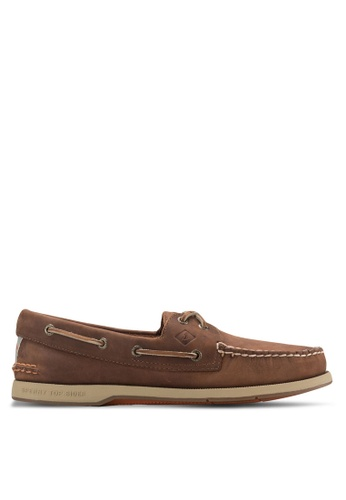 Sperry brown Captain's Authentic Original 2-Eye Boat Shoes SP132SH16FQLSG_1