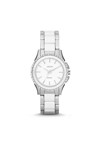 Westsidzalora 折扣碼e陶瓷水鑽腕錶 NY8818, 錶類, 時尚型