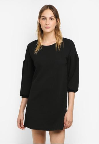Mango black Textured Dress MA193AA0RTDJMY_1