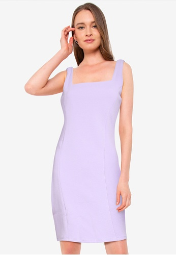Supre purple Ivanna Wide Strap Ponte Dress 9E7C6AA508AD19GS_1