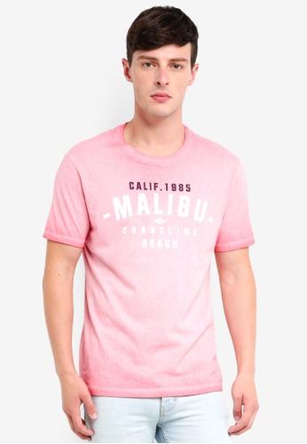 Burton Menswear London 橘色 印花T恤 973CFAAF509A70GS_1