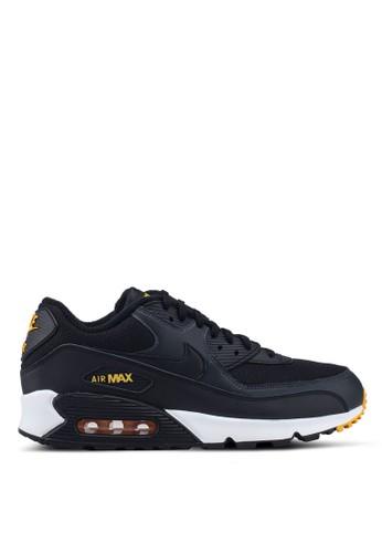 Nike black and multi Men's Nike Air Max '90 Essential Shoes 93CAASH58E9ABBGS_1