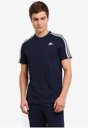 adidas navy adidas Essentials 3-Stripes Tee AD372AA0S83QMY_1
