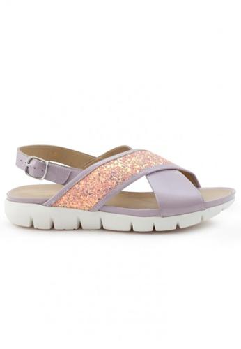 Shu Talk purple Patent Leather Comfy Sandals Shoes SH617SH2USE5HK_1