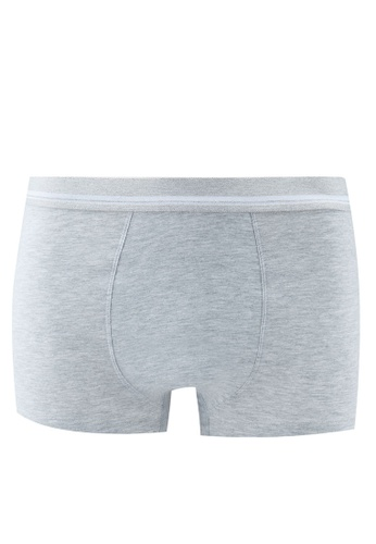 MANGO Man grey Cotton Boxer Shorts 2EB72US6E7E824GS_1