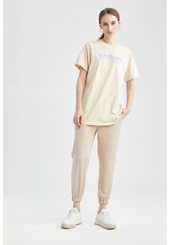DeFacto beige Woman Woven Trouser BE1E9AA6B616F7GS_1