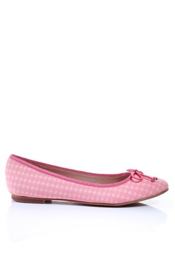 PRODUIT PARFAIT pink Cross Pattern Ballerina 3F4F1SHB5ED2D9GS_1