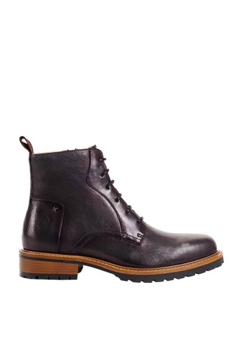Twenty Eight Shoes brown Vintage Leather Brogue Boot 017-5 703FASHB9F3EAFGS_1