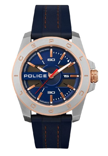 Police blue and silver Jam Tangan Pria Police PL.15532JSTR03 0AE99AC975FF32GS_1