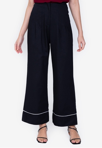 ZALORA WORK black Wide Leg Chino Pants CD372AAFF105C9GS_1