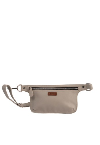 Ceviro beige Ceviro Ladie Waist Bag Tas Pinggang Wanita Cross Body Bag Meadow Mist ED567ACE6A0A14GS_1