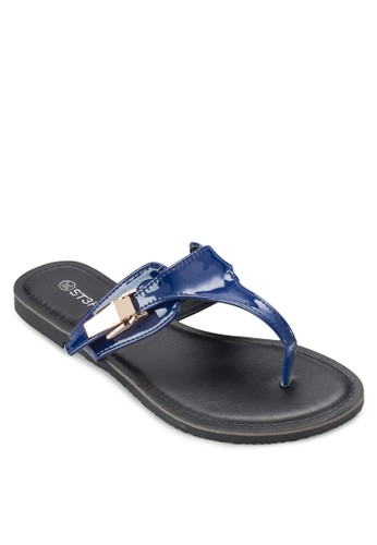 金屬esprit 台中飾夾腳涼鞋, 女鞋, 鞋