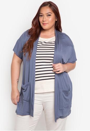 Audrey blue Malou Plus Size Blouse AU926AA0JOXFPH_1