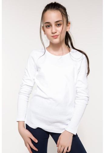 DeFacto white Girl Knitted Long Sleeve Body 60CF7KA2AD647CGS_1