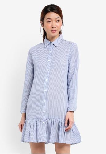 Something Borrowed blue Drop Waist Shirt Dress 4C93CAA66B41D7GS_1