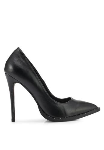 MISSGUIDED black Studded Sole Court Heels MI511SH0SP82MY_1