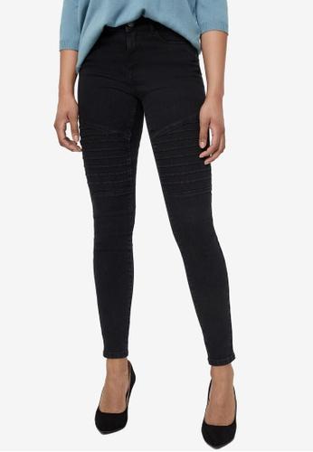 Vero Moda black Hot Seven Mr Biker Jeans A617AAAFE6B056GS_1